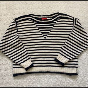 Vintage Striped Petite Sweater